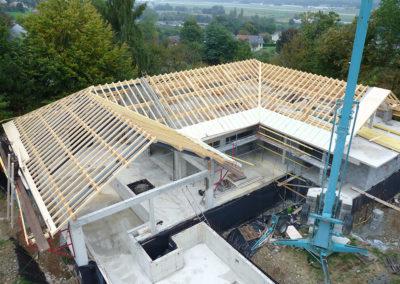 charpente de toiture en Savoie en bois local épicéa
